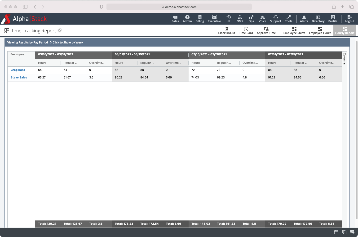 HR Landing Page